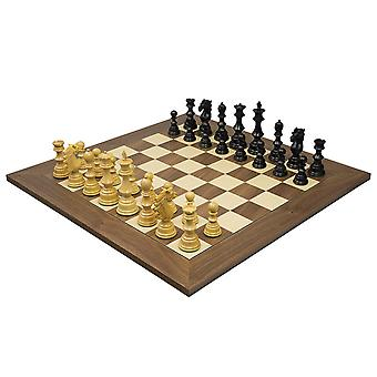The Sun Tzu Luxury Ebony & Walnut Chess Set