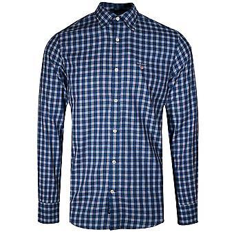 GANT GANT Indigo Blue Twill Check Long-Sleeve Shirt