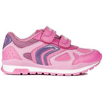Geox Girls Pavel J848CA Trainers Pink