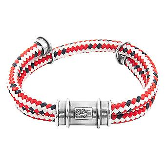 Anchor and Crew Larne Rope Bracelet - Red/Silver