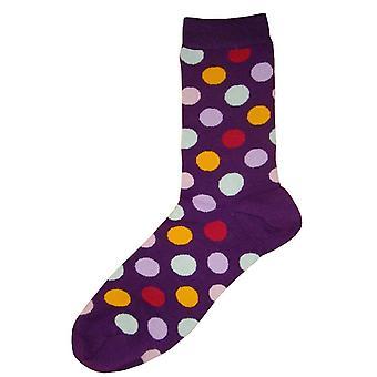 Bassin en bruin Multi ter plaatse sokken - paars/Multi-kleuren