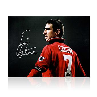 Eric Cantona signiertes Manchester United Photo