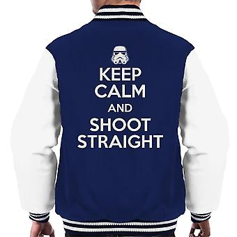 Originele Stormtrooper Keep Calm en Shoot Straight mannen Varsity Jacket