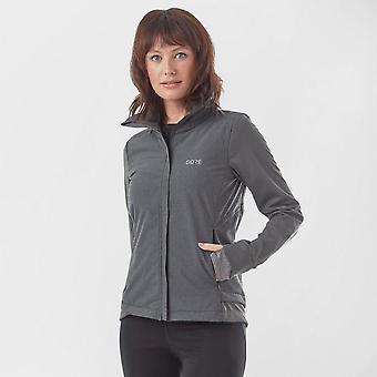 New Gore Women's Windstopper Long Sleeve Full Zip Insulated Jacket Dark Grey