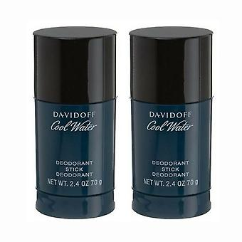 2-confezione di Davidoff Cool Water Man Deodorante stick 75 ml