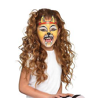 Animal Kit with 6 Colours Stencils Sponges & 2 Headbands, Facepaint