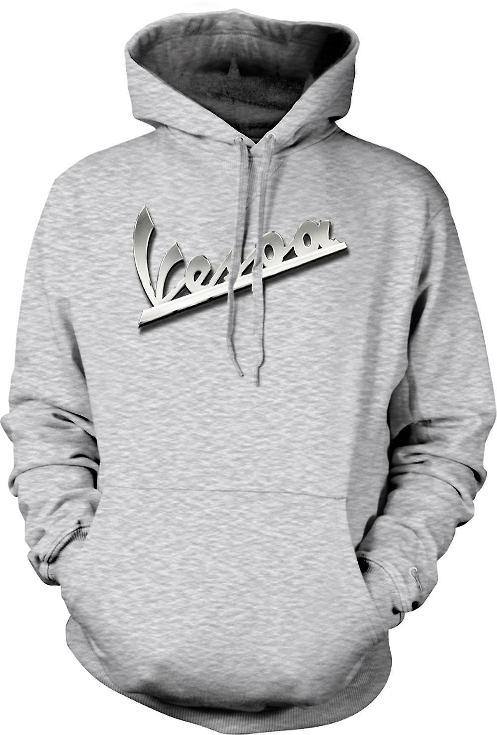 Mens Hoodie - Vespa - Logo - Mod - Scooter