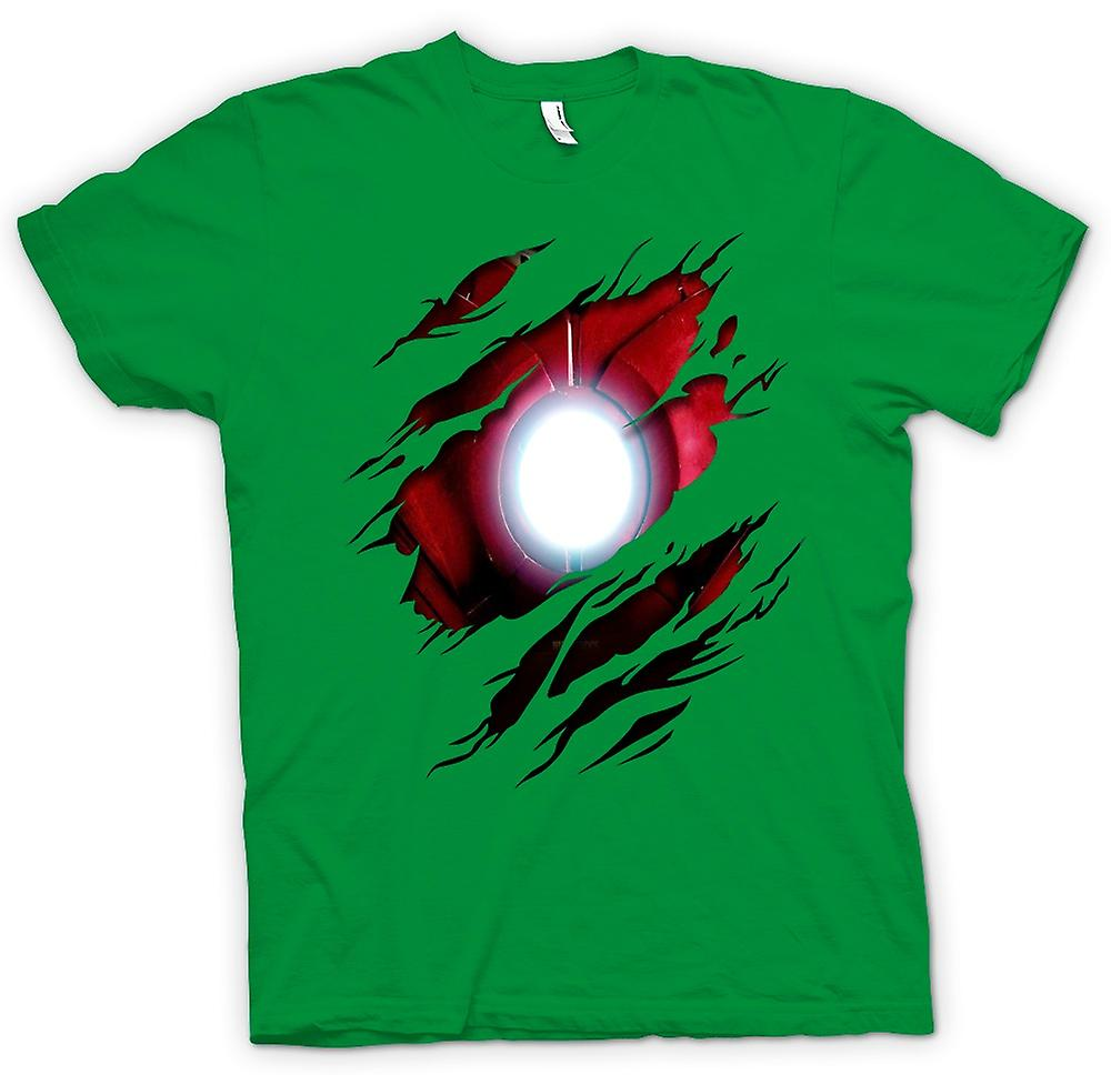 Mens T-shirt - Iron Man Under Shirt Effect - Movie Superhero
