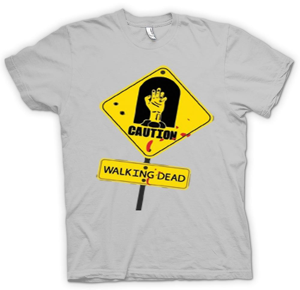 Hommes T-shirt - Attention - Walking Dead Zombie Warning Sign