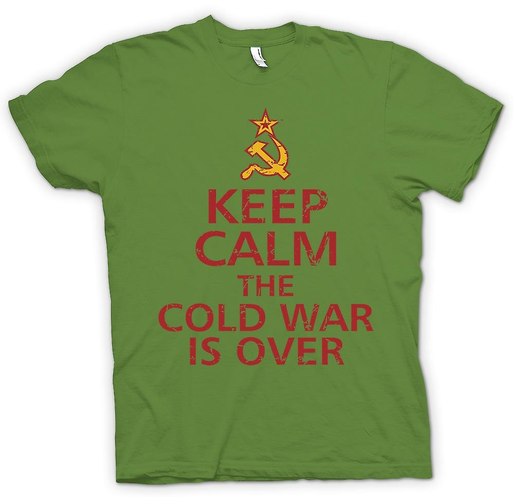 Mens T-shirt-Keep Calm The Cold War est plus