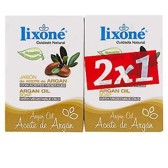 Lixone Aceite Argan Jabón Aceite Vegetal 2 X 125 Gr Unisex