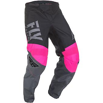Fly Racing Neon Pink-Black-Grey 2019 F-16 Kids MX Pant