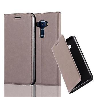 Cadorabo case for ASUS ZenFone 3 - mobile case with magnetic closure, stand function and card holder - case cover sleeve pouch bag book Klapp style