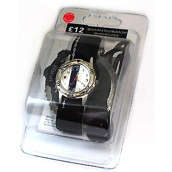 Carvel Striped Watch And Stopwatch Boys Gift Set