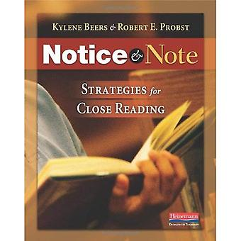 Avviso & Nota: Strategie per la lettura attenta