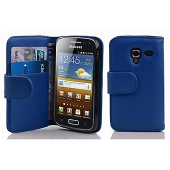 Cadorabo Hülle für Samsung Galaxy ACE 2 -Handyhülle aus strukturiertem Kunstleder mit Standfunktion und Kartenfach – Case Cover Schutzhülle Etui Tasche Book Klapp Style