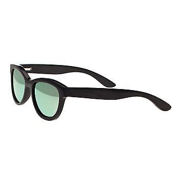 Bertha Carly Buffalo-Horn Polarized Sunglasses - Black/Green