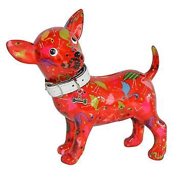 Dinero caja Chihuahua rojo