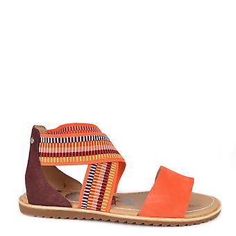 Sandale plate de Sorel Ella Orange Suede