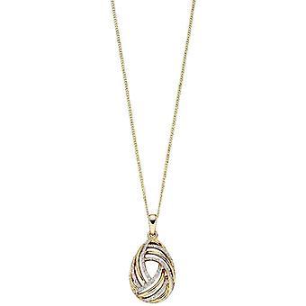 Elements Gold Swirl Pendant - Yellow Gold/Silver