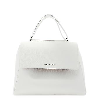 Orciani White Leather Tote