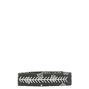 Fallon Black Cotton Headband