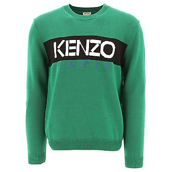 Kenzo Green Cotton Sweatshirt