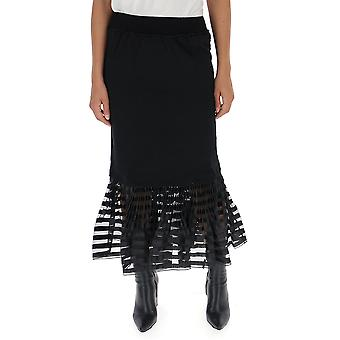J.w. Anderson Black Cotton Skirt
