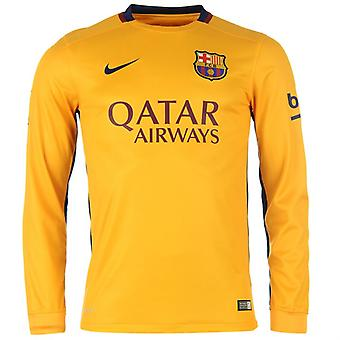 2015-2016 Barcelone Away Nike chemise à manches longues