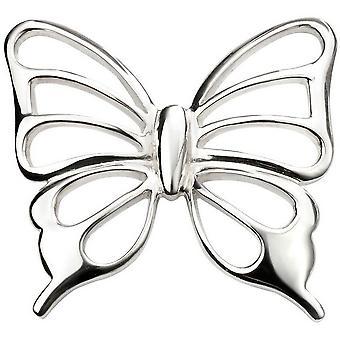 Begin uitgesneden vlinder hanger - zilver