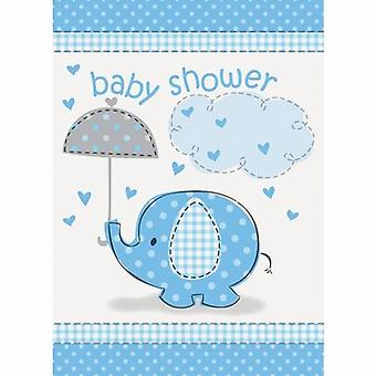 Party Invites & Envelopes 72/Pack Cute Baby Blue Elephant Baby Shower - (SC41714)