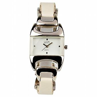 Eton Oblong White Dial White Strap Ladies Fashion Watch 2933L