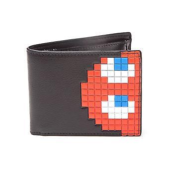 Black Pac-Man Ghost Design Bi-Fold Wallet