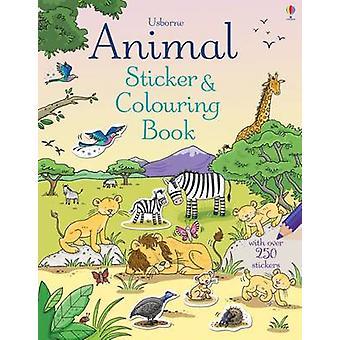 Animal Sticker and Colouring Book by Jessica Greenwell - Cecilia Joha