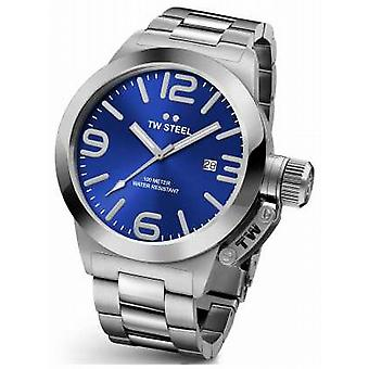 TW Steel Mens Canteen 45mm Stainless Steel Blue Dial CB11 Watch