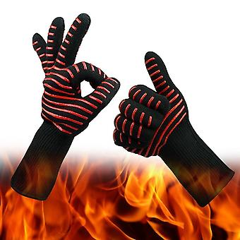 Set of 2 Premium Oven Gloves Up to 500°C - Cool and Pleasant Protection Against Heat - Barbecue Gloves Extra Long Oven Gloves
