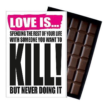 Funny Valentine? s dag present till pojkvän stygg närvarande för män choklad kort IYF147