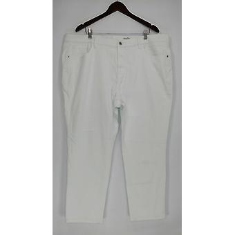 Denim & Co. Women's Plus Jeans Classic Denim Skinny White A304475