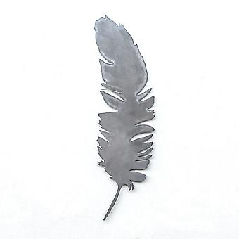 Feather - metal cut sign 16x5in