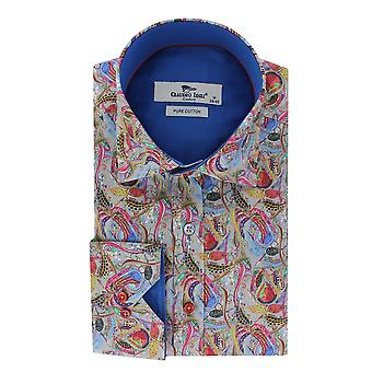 Claudio Lugli Paisley Leaves Mens Shirt