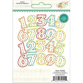 Let's Party Pocket Pieces Die-Cuts 20/Pkg-Numbers; 2ea of 0 - 9 LP5340