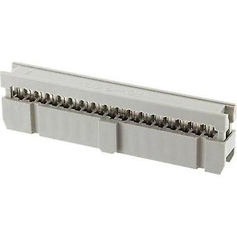 Socket strip Contact spacing: 2.54 mm Total number of pins: 26