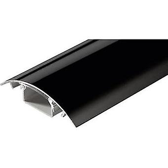 Cable duct (L x W x H) 250 x 80 x 20 mm Alunovo SC90-025 1 pc(s) Black (glossy)
