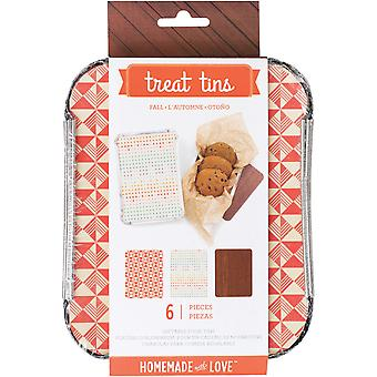 Small Fall Treat Tins 3/Pkg-4.75