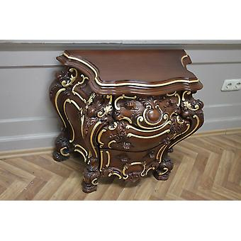 baroque night chest of drawers antique style venetian baroque Vp7734Br