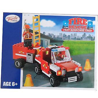Unidade de resposta rápida Toyrific tijolos fogo resgate