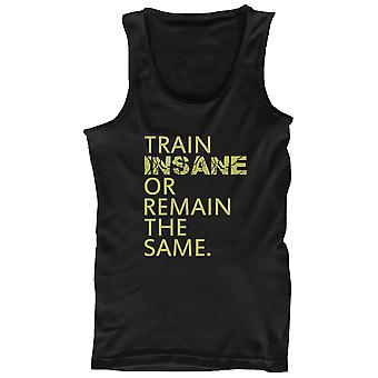 Train fou ou demeurent d'entraînement Tanktop Gym sans manche réservoir les mêmes hommes