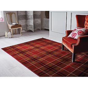 Red Highland Tartan Rug Inverness