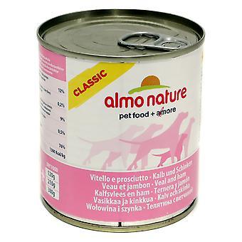 Almo Nature klassiske hund voksen kalvekød med skinke 290g (pakke med 12)