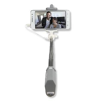 Universal Selfie-stick Selfie rod for cell phones grey